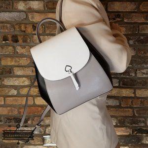 Kate Spade OPTIC WHITE BLACK Adel Backpack GRAY